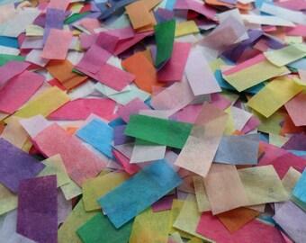 Retro Rainbow Mix Biodegradable Tissue Paper Confetti Rectangles Boho Festival Wedding