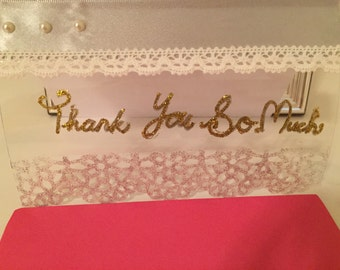 Romantic White Thank You Card