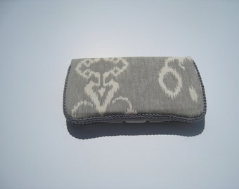 Gray and white wipe case