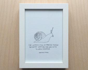 Snail Magic Print