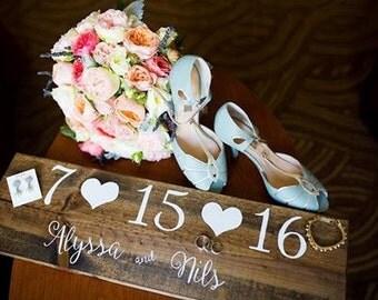 Save The Date Sign - Custom Wedding Sign - Personalized Wedding Date Sign - Engagement Sign - Wood Sign - Custom Sign