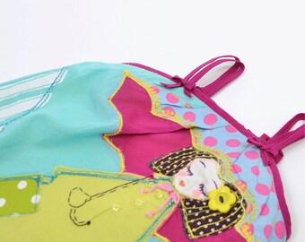 APPLICATION BABY DRESS, girl dress, ocean blue dress, baby summer dress