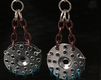 Plaster Washer Earrings