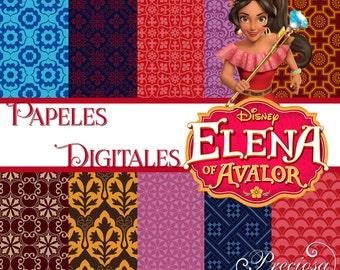Papers digital Elena 12 X 12 inch