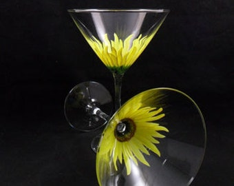 Hand crafted martini glasses