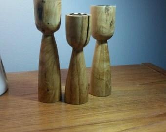 Handmade crepe myrtle candlesticks