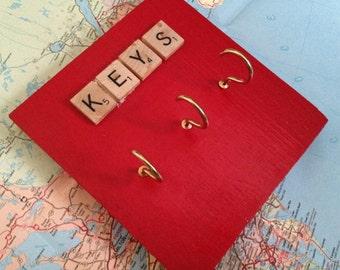 Three Hook Key Rack
