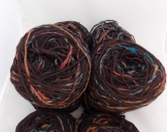 Brown yarn, multicolor yarn, alpaca yarn, wool yarn, yarn lot, cheap yarn, medium yarn, worsted yarn, aran yarn, afghan yarn, natural yarn