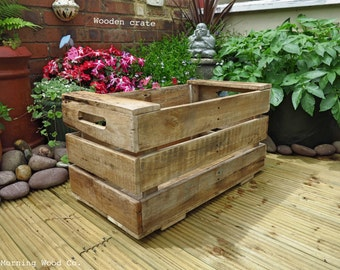 Handcrafted wood box crate