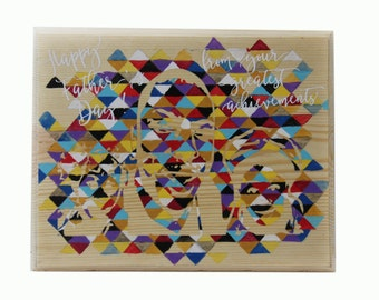 Custom Wood Work, Personalized Painting on Wood, Custom Signage, Wood Signage, Geometrical Art, Pop art culture, Family painting