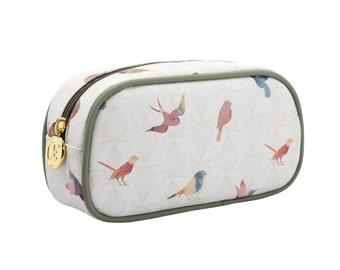 TaylorHe Make-up Bag Cosmetic Case Pencil Case Zipped Top Beautiful Birds.