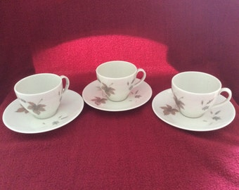 Royal Doulton Tumbling  Leaves TC1004 Coffee Cup & Saucer Duo