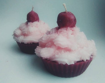 Cherry Cupcake Candle