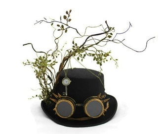steampunk top hat / steampunk/ wizard hat