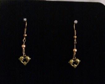 dolphin heart earrings