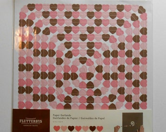 Paper Heart Garland in Pinks and Brown