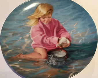 Collectors Plate, Summers Child, Special Moments, Donald Zolan, Limited Edition