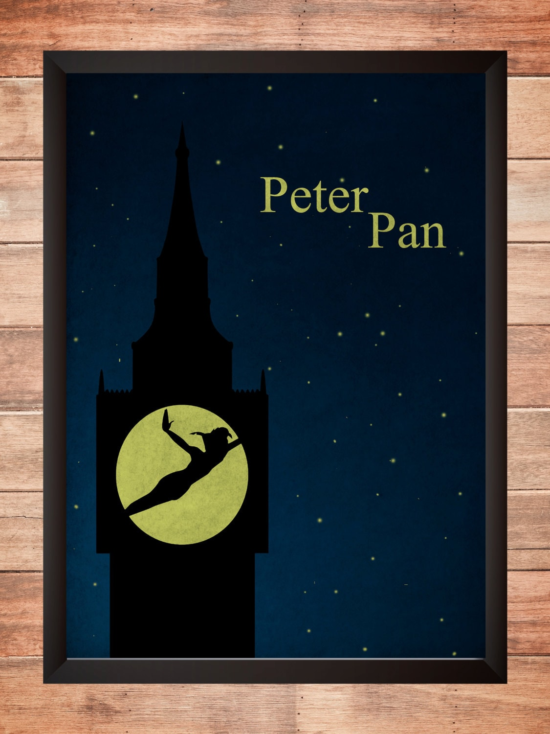 Peter pan disney minimalist poster wall art print home decor for Minimalist wall art