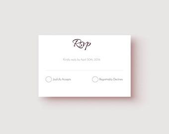 No. 1 | Printable | 3.5 x 5 RSVP | 3.5 x 5 Details
