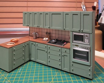 1/12th Kitchen Unit & 'Miele' Appliances.