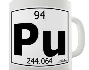 Periodic Table Of Elements Pu Plutonium Ceramic Novelty Gift Mug