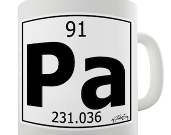 Periodic Table Of Elements Pa Protactinium Ceramic Novelty Mug