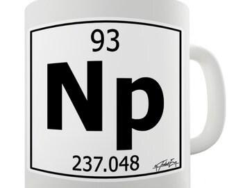 Periodic Table Of Elements Np Neptunium Ceramic Novelty Mug