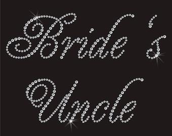 Wedding Brides Uncle Rhinestone Applique
