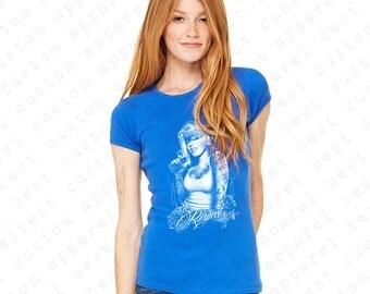 Marilyn Monroe Gangsta Pose Women's T-shirt Marilyn Monroe Bandana Shirts