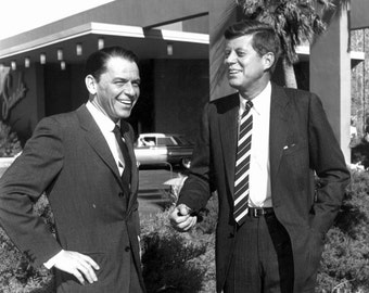 Senator John F. Kennedy With Frank Sinatra at The Sands in Las Vegas in February 1960 - 5X7, 8X10 or 11X14 Photo (AA-268)