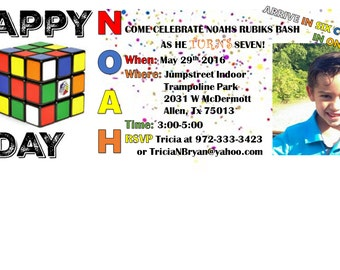 rubiks cube invite