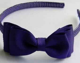 Beautiful Purple Hairbow Headband