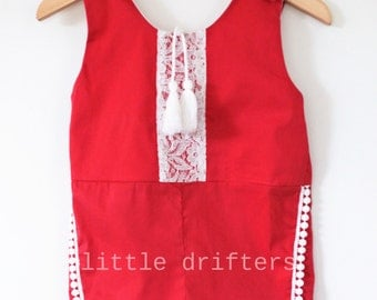 Gorgeous Ruby Tuesday Tassle Playsuit Size 18-24 Months to 5 Years