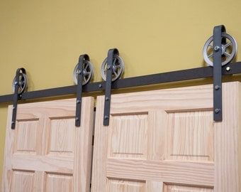 Vintage sliding door hardware/ double  barn door hardware/ double door
