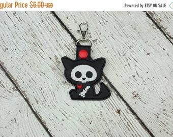Summer Sale Skelli Cat Keychain/Zipper Pull