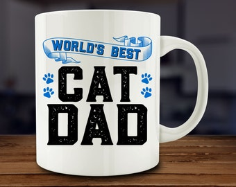Cat Dad Mug, pet owner mug (A181)