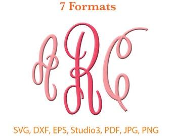 Empire Monogram Font SVG ( Studio 3 / dfx / eps / png / jpg / pdf) Silhouette Studio,Cricut Files,SVG files for cricut,Silhouete Cameo