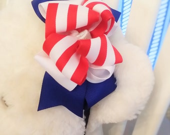 USA Headband, Stars and Stripes, America, Memorial Day, July 4th Headband, Holiday Headband, Red White and Blue, Bow, Kid