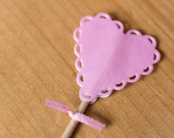 Cute Cake Topper | Pink heart decoration