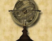 Astrolabe Graphic Download 300dpi 1440 x 2083