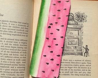 Handmade watermelon bookmark