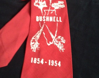 1940's / 50's Vintage Men's Neck Tie / BUSHNELL 1854 - 1954