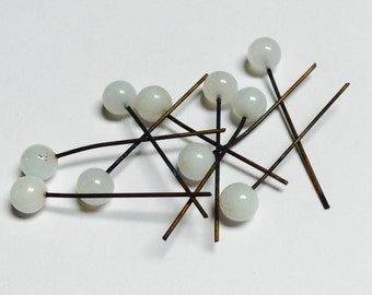 German vintage glass head pins - 20 Pieces -  #146
