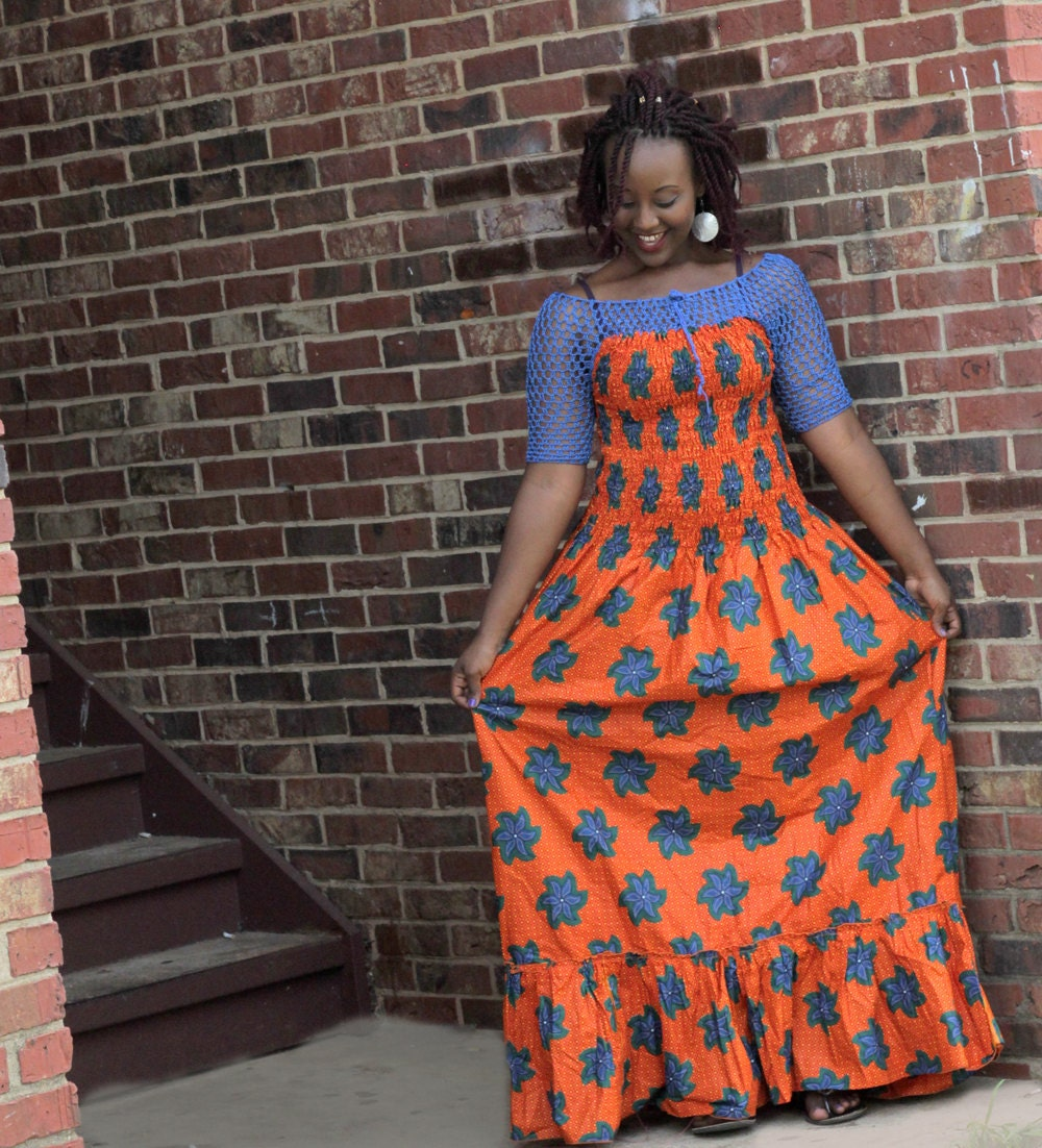 African Print Fancy Maternity Dresses: African Print Dress Maternity Boho Dress Women's