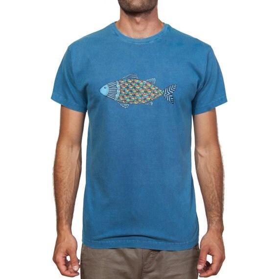 Stonewashed T-Shirt - Colourful Fish