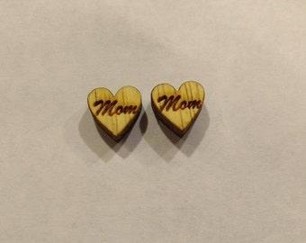 Love Mom Earrings