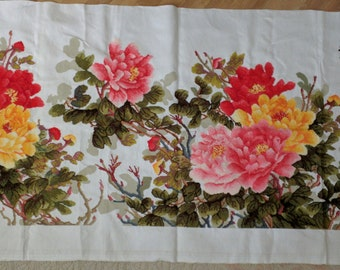 Across stitch wealth comes with blooming flowers