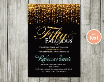 Th Birthday Invite Etsy - 50th birthday invitation images