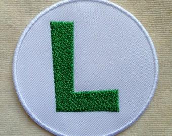 Luigi Super Mario Logo Iron On Patch