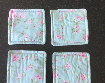 Floral patterened coasters - set of 4